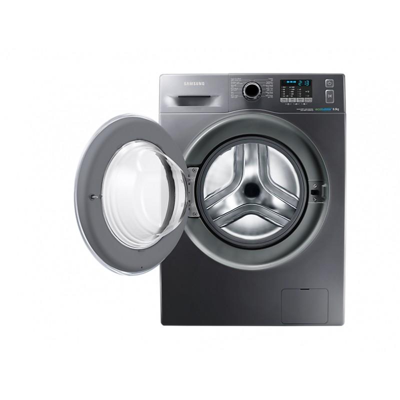 Samsung Machine à Laver 8kg Eco Bubble Inox Wf80f5ehw4x Samsungshop