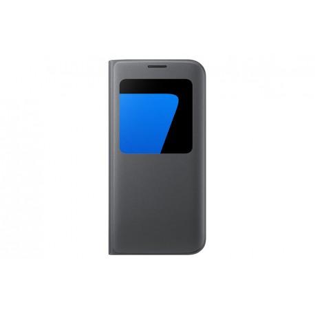 Etui S View Noir pour Galaxy S7 edge