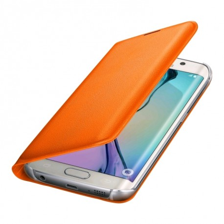 Étui porte-carte (polyuréthane) pour GS6 edge orange