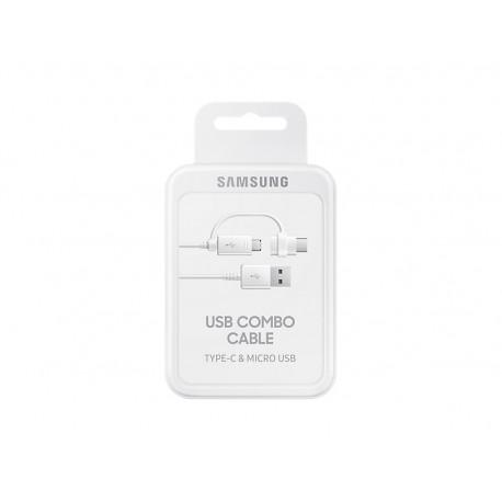 Câble de charge 'combo' USB vers USB-C et Micro USB