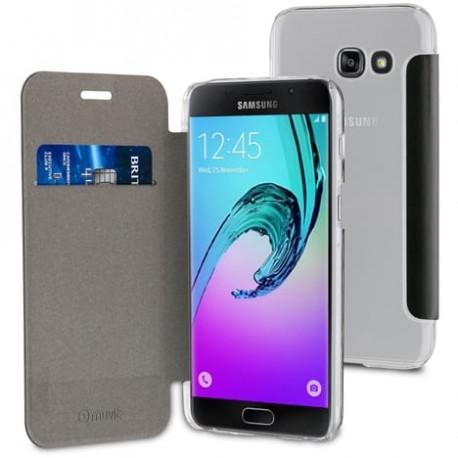 Muvit Etui Folio Case Noir Pour Samsung Galaxy A5 2017