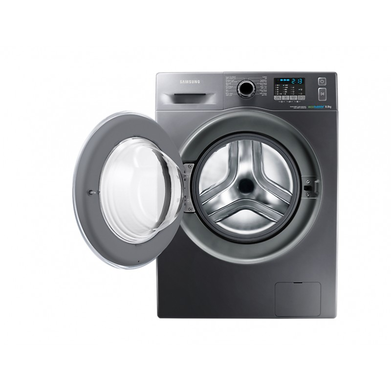 samsung machine laver 8kg eco bubble inox wf80f5ehw4x samsungshop. Black Bedroom Furniture Sets. Home Design Ideas