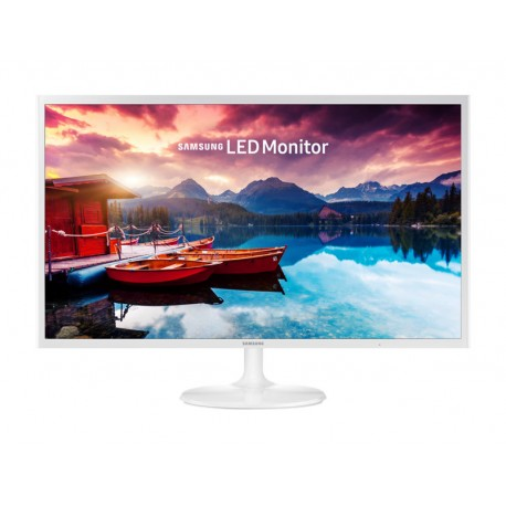"Moniteur blanc HD de 32"" au design ultra-mince"