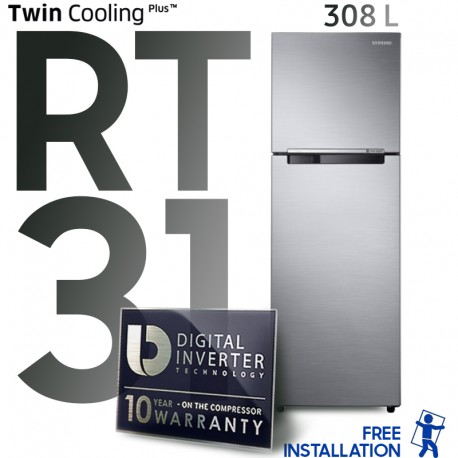 refrigerateur-rt31-double-portes-silver-samsung-tunisie-prix