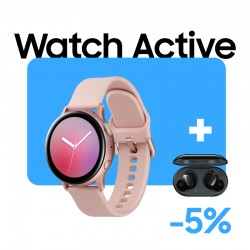 Galaxy Watch Active Rose + Buds Plus