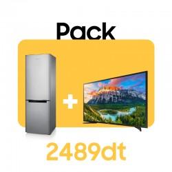 """Pack Réfrigérateur RT37 + 32"""" HD Flat TV N5300"""