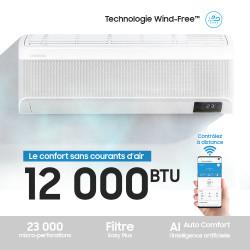Climatiseur Mural avec Wind-Free™, 12,000 BTU