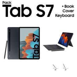 Galaxy Tab S7 + Book Cover Keyboard Galaxy Tab S7