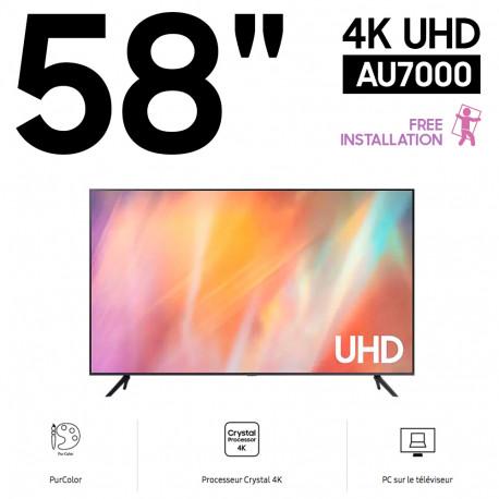 """TV 58"""" Crystal UHD 4K 58AU7000 (2021)"""