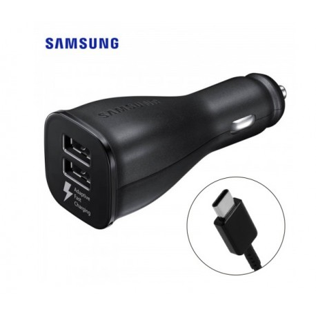 Chargeur voiture rapide double (type C)