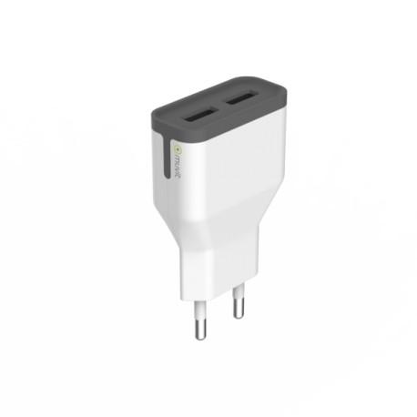 Muvit Chargeur Secteur 2 USB 2.4 A