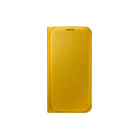 Flip wallet cover Galaxy S6 Jaune