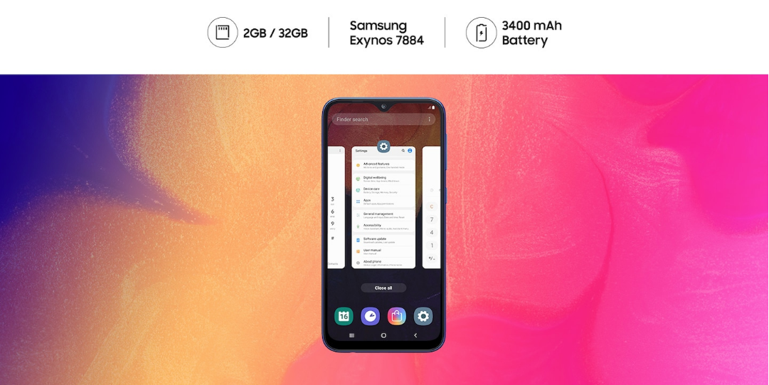 Samsung One UI Galaxy A50