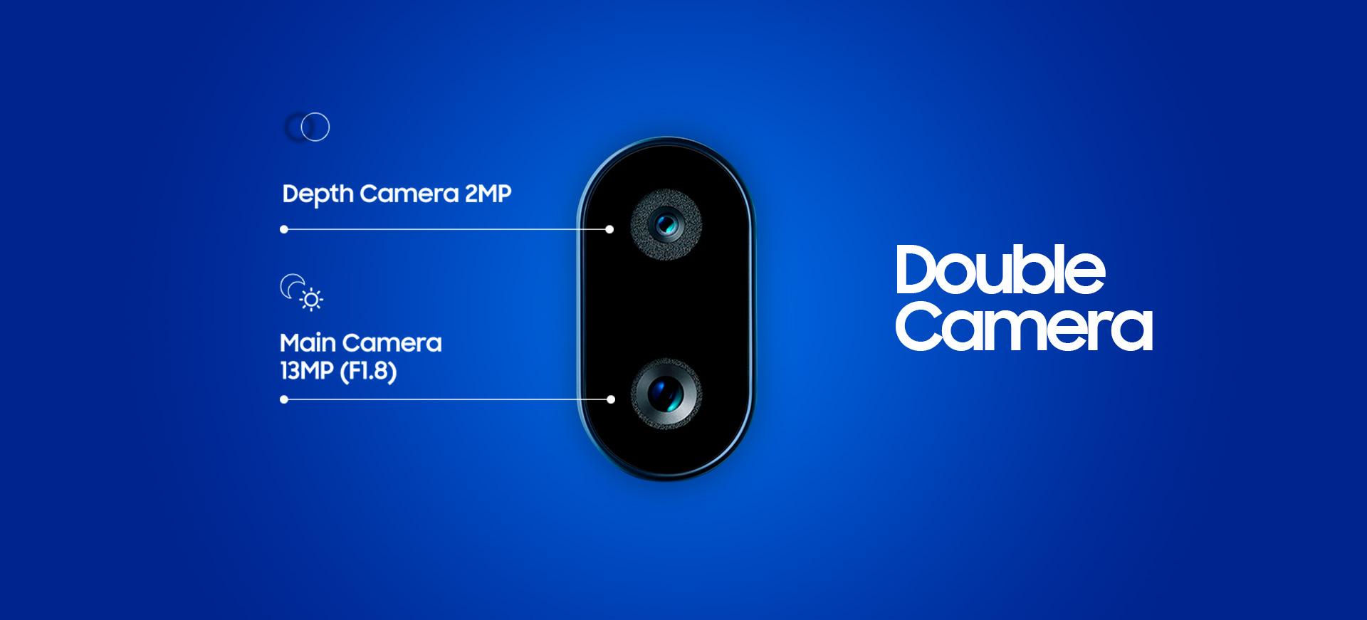 double caméra 13MP + 2MP