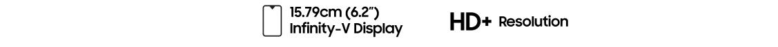 écran panoramique 6,2'' du Galaxy A10