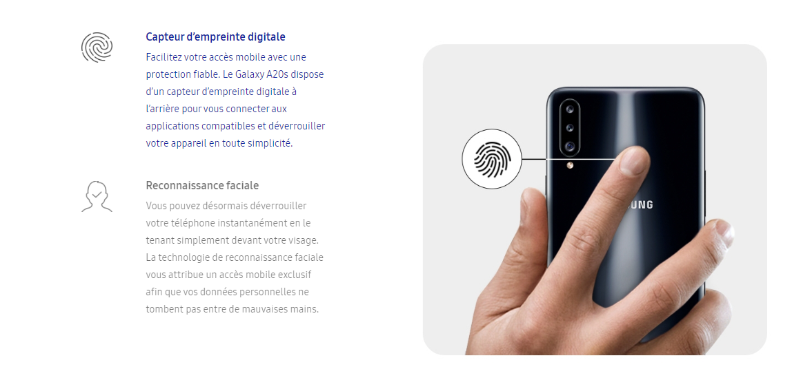 Fingerprint Galaxy A20s